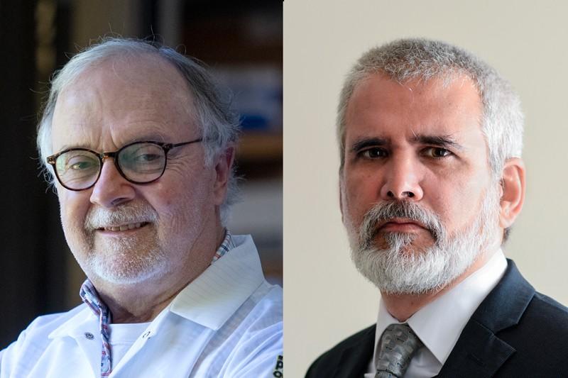 Philip Felgner (trái) và Robert Malone. Nguồn: Steve Zylius/UCI; Robert Malone